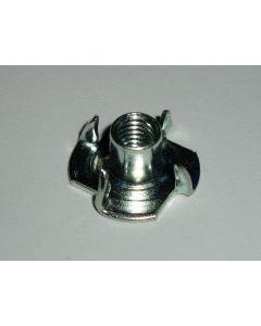 M6 Steel Pronged Tee Nut, Zinc Plated