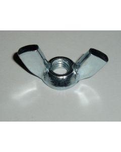 M6 Steel Wing Nut, Zinc Plated