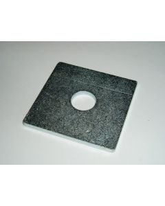 M10 x 40 x 40 x 5 Steel Square Washer, Zinc Plated