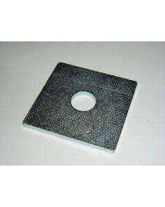 M20 x 50 x 50 x 3 Steel Square Washer, Zinc Plated
