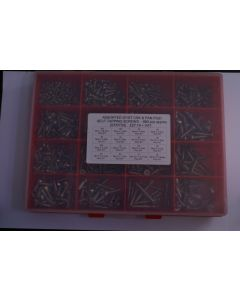 Assorted A2 Stainless Steel Recessed Csk, Pan and Flange Self-Tapping Screws - 880pcs