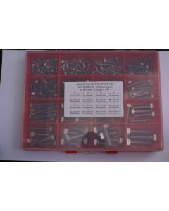 Assorted Metric A2 Stainless Steel Hex Setscrews - 200pcs