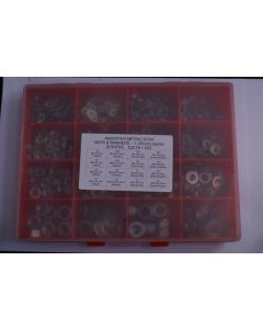Assorted Metric A2 Stainless Steel Nuts and Washers - 1,120pcs