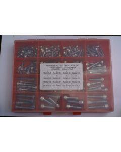Assorted Metric Plated H/T Skt Capscrews - 174pcs