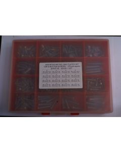 Assorted Metric Plated H/T Skt Csk and Button Screws - 270pcs