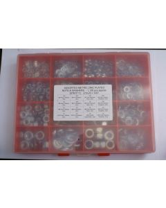 Assorted Metric Plated Steel Nuts and Washers - 1,120pcs
