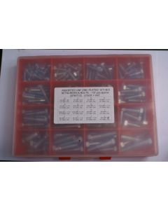 Assorted UNF Plated H/T Hex Bolts & Setscrews - 137pcs