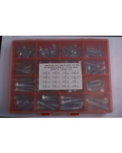 Assorted UNC Plated H/T Hex Bolts and Setscrews - 137pcs
