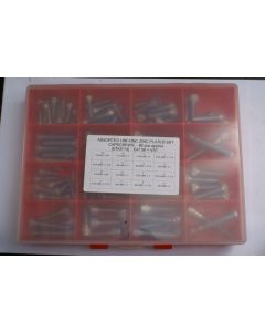 Assorted UNF and UNC Plated H/T Skt Capscrews - 98pcs