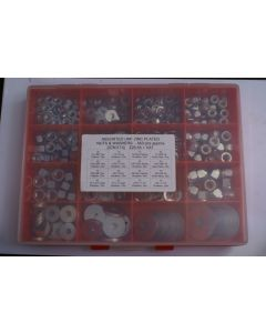 Assorted UNF Plated Steel Nuts and Washers - 540pcs