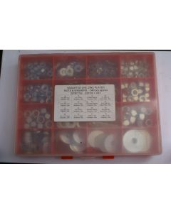 Assorted UNC Plated Steel Nuts and Washers - 540pcs